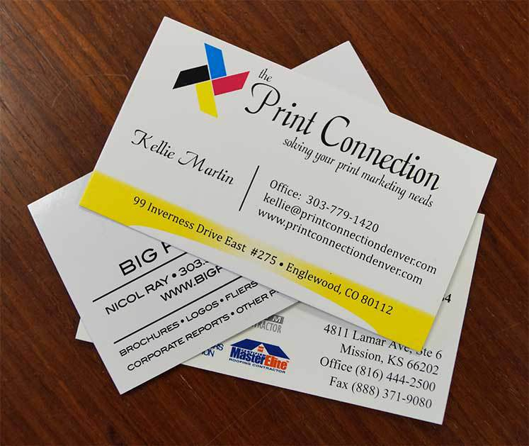 Business cards greater denver area print connection business card printing services in denver reheart Images